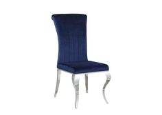 Carone Upholstered Side Chairs Ink Blue And Chrome (Set of 4)