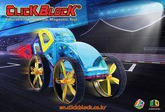 Click Block Megbot 2D Magnetic Toy - Racing Car