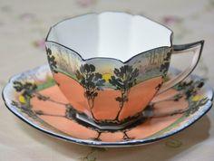 China Cups And Saucers, Coffee Cups And Saucers, Cup And Saucer, Antique Tea Sets, Tea Sets Vintage, 5 O Clock Tea, Bluebird Nest, English Teapots, Royal Tea