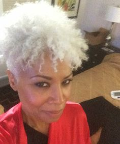 My name is Janice Cosby Bridges and I am a year natural. I cannot tell you how proud I am of myself! I did the BIG CHOP. I will be 58 years old in October and have had a relaxer since age 11