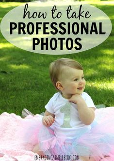 Read this great guide for easy ways to take professional looking photos on your own!