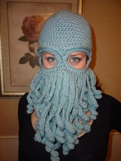 Davy Jones inspired ski mask | CamoCutie - Crochet on ArtFire