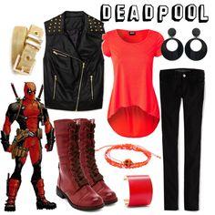 """Deadpool"" by fandom-wardrobes on Polyvore"