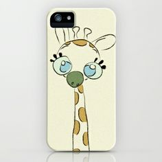 Giraffe Doodle  iPhone & iPod Case by Ivan Nikolow - $35.00.... Yes please!!