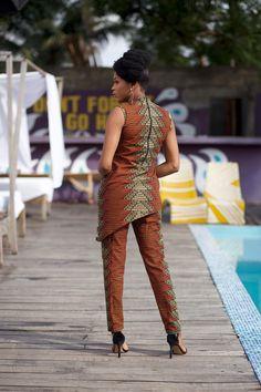 Ankara Skirt, Ankara Fabric, African Tops For Women, Print Fabrics, African Inspired Fashion, Front Design, Green And Brown, Wax, Cotton Fabric