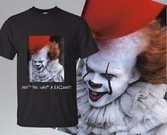 Stephen king It Movie 2019 Shirt BLACK Pennywise the Clown Halloween Best Seller