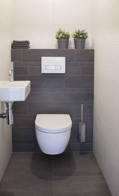 hotel bathroorn Thrill Your Site visitors with These 14 Adorable Half-Bathroom Designs - Small Toilet Room, Guest Toilet, Downstairs Toilet, Dog Toilet, Bathroom Design Small, Bathroom Interior Design, Bathroom Designs, Bathroom Ideas, Zen Bathroom