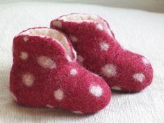 Baby Filzschuhe Fliegenpilz Filzpantoffeln