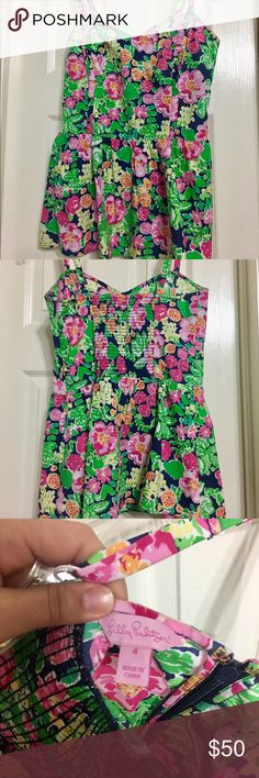 Lilly Pulitzer Peplum Camisole Lilly Pulitzer Flower Print Peplum Camisole. Excellent Condition. Only worn twice. Lilly Pulitzer Tops Camisoles
