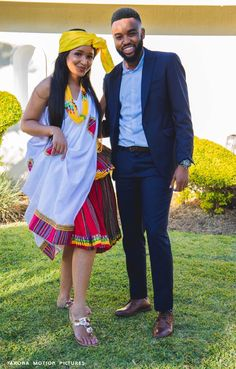 A Stunning Tsonga Wedding This is beautiful Tsonga Traditional Dresses, South African Traditional Dresses, Latest African Fashion Dresses, African Print Dresses, African Dress, Traditional Wedding Attire, Traditional Outfits, Xhosa Attire, African Wedding Attire