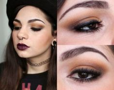 De Coturno e Spikes: Soft Grunge/Heroin Chic Makeup Inspired Rock Makeup, 90s Makeup, Glam Makeup, Makeup Inspo, Makeup Inspiration, Beauty Makeup, Makeup Ideas, Soft Grunge Makeup, Grunge Makeup Tutorial