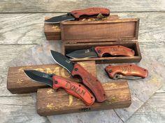 Groomsmen Engraved Knives Gift Idea Pocket by TheUltimateManShop