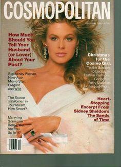Cosmopolitan Magazine December 1988 Paula Abbott Cover  - Found on Lookza.com  www.advintageplus.com