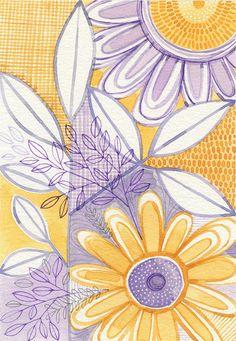 30 days of painting / day 3 Zentangle, Susan Black, Watercolor Painting Techniques, Watercolour, Puzzle Shop, Clay Design, Motif Floral, Doodle Drawings, Simple Art