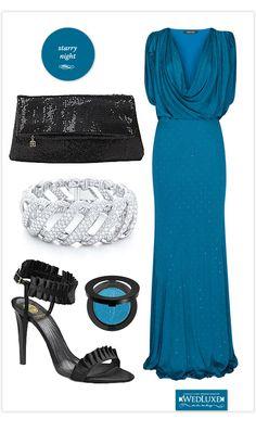 Bridesmaids for an elegant evening wedding