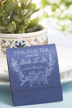 Elegant personalized wedding tea favors from ForYourParty.com.
