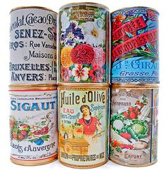 Look What Ive Made - Projects - Papercrafts - Vintage Labels for Cans & Scrapbooking