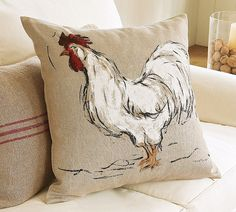 rooster pillow