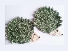 Adorable crochet hedgehog coaster mug pad by MKedraDecoupage, $6.50