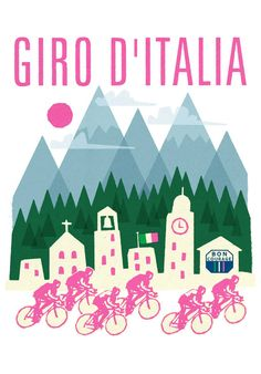Bici D'italia Cycling Poster