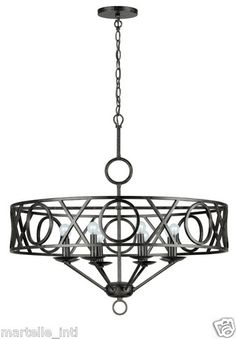 Transitional Wrought Iron Chandelier Ceiling Light Fixture New Free Shipping | eBay