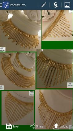 Jewelry Design Earrings, Gold Earrings Designs, Gold Jewellery Design, Bead Jewellery, Gold Jewelry, Gold Necklace, Pakistani Bridal Jewelry, Gold Mangalsutra Designs, Gold Ring Designs