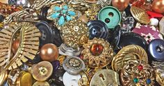 Destash Jewelry Bead Button  Lots of by supplysideeconomics