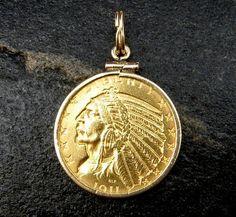 Atocha pièce Dauphin Pendentif 925 Sterling Gold Overlay Sunken Treasure Bijoux