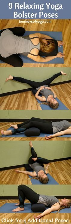9 Relaxing Yoga Bolster Poses- This sequence is so relaxing!