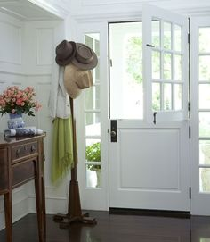 Flanking french paned windows and a dutch door...perfection