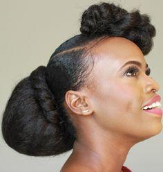 40s Hairstyles, Black Girls Hairstyles, Wedding Hairstyles, Natural Hair Updo, Natural Hair Styles, Short Bride, Updo Tutorial, Thing 1, African American Hairstyles