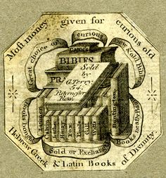 Trade card of G Terry [booklabel], bookseller