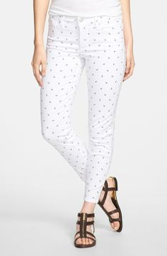 Anchor aweigh! This pair of jeans would look great with a red top.