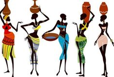Illustration about Fragile and beautiful african women - vector illustration. Illustration of isolated, africa, indigenous - 17340606 African Artwork, African Art Paintings, African Drawings, African Prints, Easy Paintings, African Fabric, Arte Tribal, Tribal Art, Black Women Art