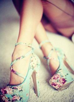 love these! #floral #platform #heels