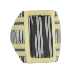 Art Deco Black Celluloid Ring
