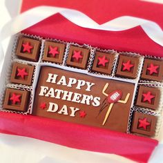 Chocolate Fathers Day Football Gift - Happy Father's Day Football Chocolate Squares - Unique Gift for Dad - Fathers Day Gift by DiamondChocolates on Etsy
