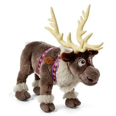 Disney FROZEN Sven Reindeer Large Stuffed Animal Plush Doll Grey Moose NWT NEW