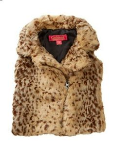 NWT Girls Catherine Malandrino Brown Animal Print Faux Fur Vest Size 14/16 | Clothing, Shoes & Accessories, Kids' Clothing, Shoes & Accs, Girls' Clothing (Sizes 4 & Up) | eBay!