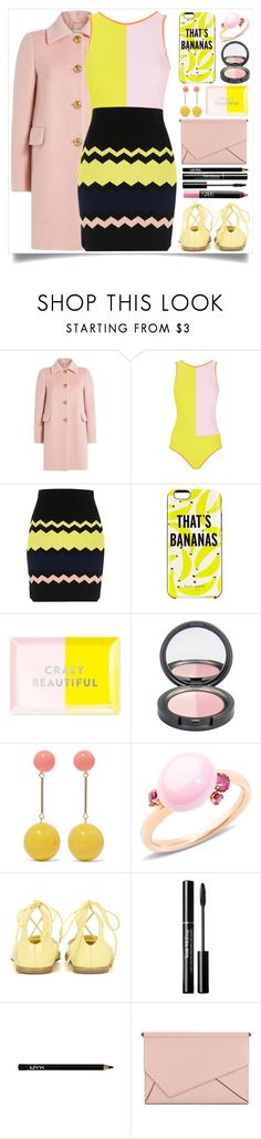 """""""That's Bananas"""" by itsybitsy62 ❤ liked on Polyvore featuring RED Valentino, Roksanda, River Island, Kate Spade, Fringe, J.W. Anderson, Pomellato, Jimmy Choo, Trish McEvoy and NYX"""