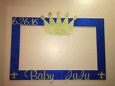 Photo Booth Frame To Take Pictures royal, prince baby shower in Home & Garden, Greeting Cards & Party Supply, Party Supplies Baby Shower Centerpieces, Baby Shower Favors, Baby Shower Parties, Baby Shower Themes, Baby Shower Decorations, Shower Ideas, Baby Shower Azul, Fiesta Baby Shower, Baby Boy Shower
