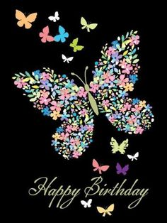 Birthday Quotes : Happy birthday pics for her.Lovely butterfly birthday images to wish my girlfrie… Free Happy Birthday, Happy Birthday Pictures, Happy Birthday Sister, Birthday Fun, Birthday Memes, Girlfriend Birthday, Boyfriend Girlfriend, Birthday Ideas, Birthday Blessings