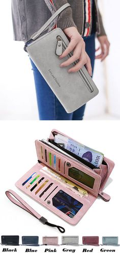Unique Girl's Square Wallet PU Cellphone Clutch Bag Love Freedom Letters Zipper Purse for big sale! #bag #wallet #square #clutch