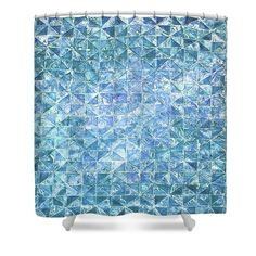 Blue Thaw 1 Shower Curtain by Jorge Berlato. This shower curtain is made from polyester fabric and includes 12 holes at the top of the curtain for simple hanging. The total dimensions of the shower curtain are wide x tall.
