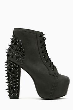 Spike Platform Boot - Blackout <3