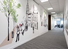 Graphic design idea for commercial offices