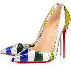 SO KATE PYTHON RAYE LAMINATO, SUN, Python, Women Shoes, Louboutin. ($1,115) ❤ liked on Polyvore featuring shoes, pumps, louboutin, striped pumps, stilettos shoes, pointy toe stiletto pumps, pointy toe stilettos and high heel stilettos