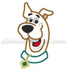 Scooby Doo Head Bust Applique