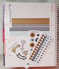 Gold Arrows Collection | Aqua, Gold, Black {Larger Sheets sold separately, or bundle and save when you buy the whole kit}  SET INCLUDES: 8 Sheets