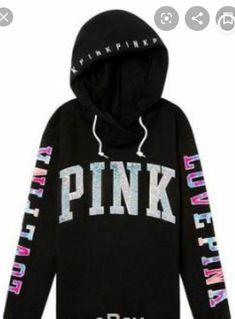 Victorias Secret Pink Soft Fleece Crossover Pullover Hoodie Small Light Gray